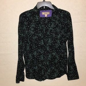 Decree Floral Button Down Blouse